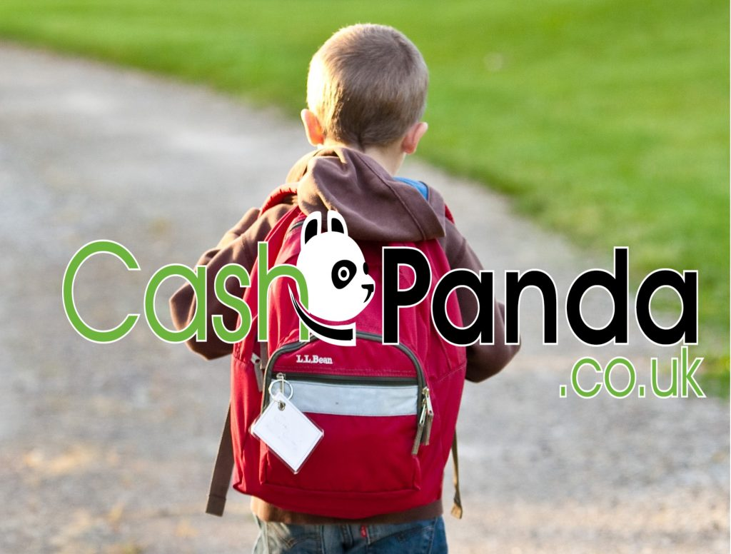 kid with cashpanda.co.uk going to school